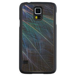 Capa Slim De Bordo Para Galaxy S5 Pássaro azul do abstrato da pena do paraíso