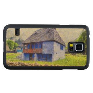 Capa Slim De Bordo Para Galaxy S5 Pintura de casa azul