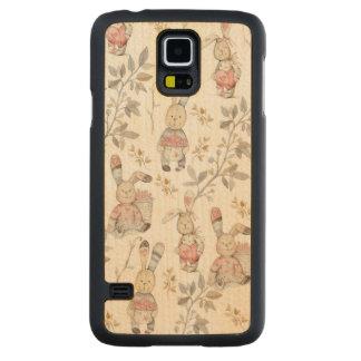 Capa Slim De Bordo Para Galaxy S5 Teste padrão bonito da aguarela dos coelhinhos da
