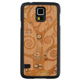 Capa Slim De Cerejeira Para Galaxy S5 Gustavo Klimt a árvore da arte Nouveau da vida