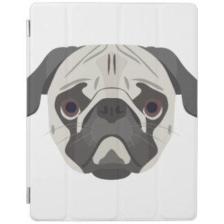 Capa Smart Para iPad A ilustração persegue o Pug da cara
