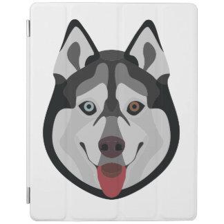 Capa Smart Para iPad A ilustração persegue o rouco Siberian da cara