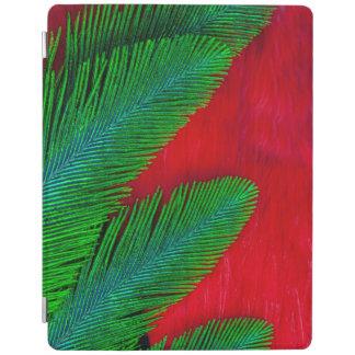 Capa Smart Para iPad Abstrato vermelho e verde da pena
