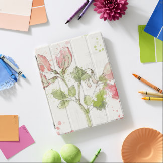 Capa Smart Para iPad Aguarela da ervilha doce