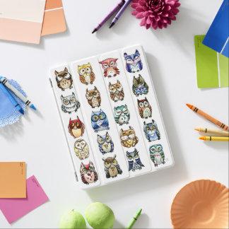 Capa Smart Para iPad Aguarela das corujas do arco-íris