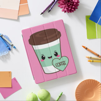 Capa Smart Para iPad Amante de Emoji do café