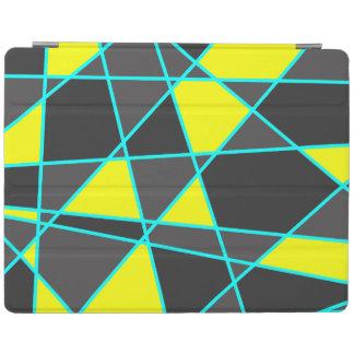 Capa Smart Para iPad amarelo de néon brilhante geométrico elegante e