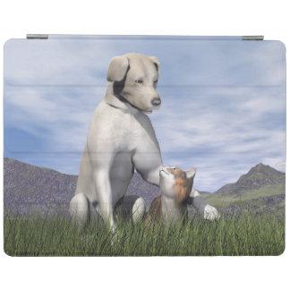 Capa Smart Para iPad Amizade do cão e gato