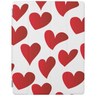 Capa Smart Para iPad Amor vermelho pintado teste padrão do coração da