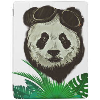Capa Smart Para iPad Animal do urso de panda do hipster