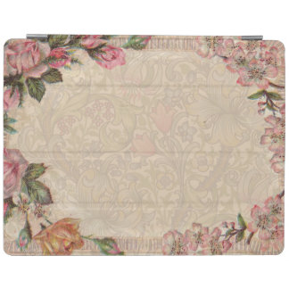Capa Smart Para iPad Antiguidade floral dos rosas do vintage