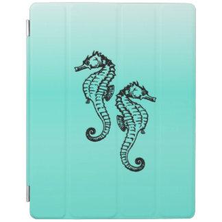 Capa Smart Para iPad Aqua dos cavalos marinhos