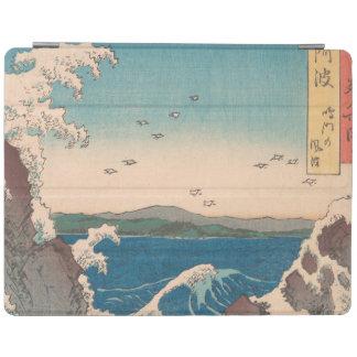 Capa Smart Para iPad Arte de Hiroshige do japonês do redemoinho de