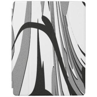 Capa Smart Para iPad Arte preto e branco da forma