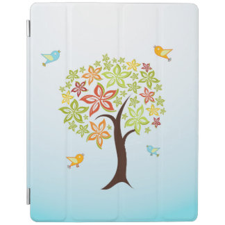 Capa Smart Para iPad Árvore e pássaros