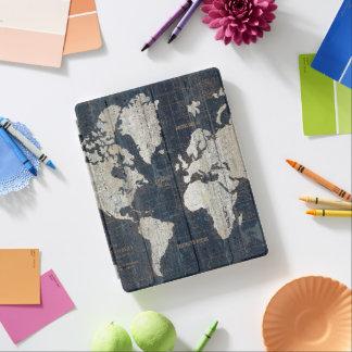 Capa Smart Para iPad Azul do mapa de Velho Mundo
