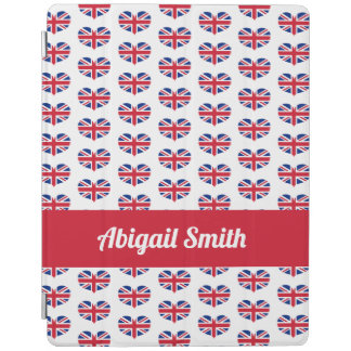 Capa Smart Para iPad Bandeira BRITÂNICA dada forma coração/Union Jack
