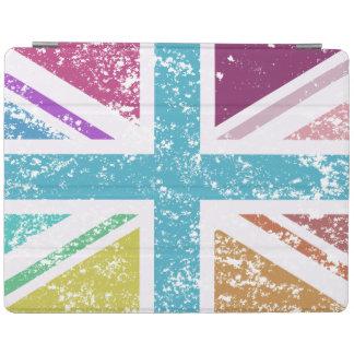 Capa Smart Para iPad Bandeira de união afligida colorido