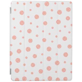 Capa Smart Para iPad Bolinhas elegantes - branco cor-de-rosa macio do
