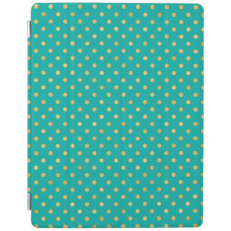 Capa Smart Para iPad Bolinhas elegantes - hortelã & Ouro