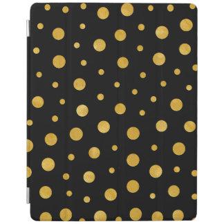 Capa Smart Para iPad Bolinhas elegantes - ouro preto