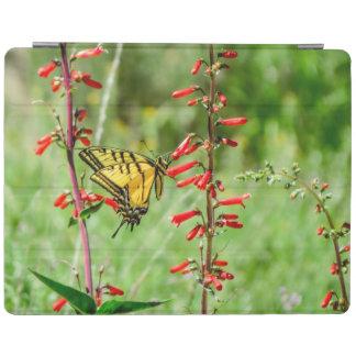 Capa Smart Para iPad Borboleta e Wildflowers de Swallowtail do tigre