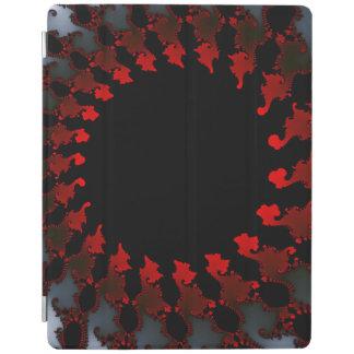 Capa Smart Para iPad Branco preto vermelho do Fractal