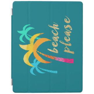 """Capa Smart Para iPad brilho """"praia do ouro por favor"""" com palmas"""