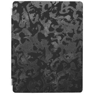 Capa Smart Para iPad Camuflagem cinzenta preta e escura de Camo moderno