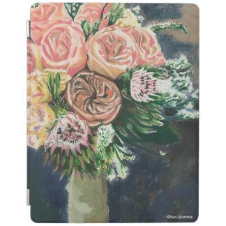 Capa Smart Para iPad Caso pintado mão do iPad do buquê floral