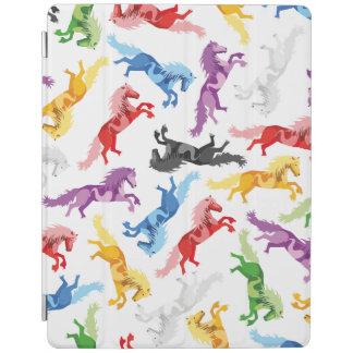 Capa Smart Para iPad Cavalos de salto coloridos do teste padrão