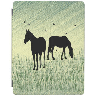 Capa Smart Para iPad Cavalos no campo