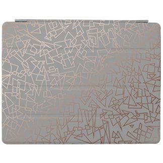 Capa Smart Para iPad Cinza geométrico do teste padrão do ouro