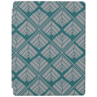 Capa Smart Para iPad Cinzas quadradas da cerceta da repetição da folha
