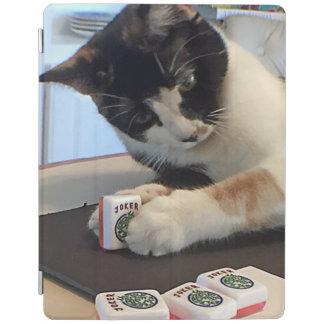 Capa Smart Para iPad Cobrir do gato do palhaço do Mah Jongg