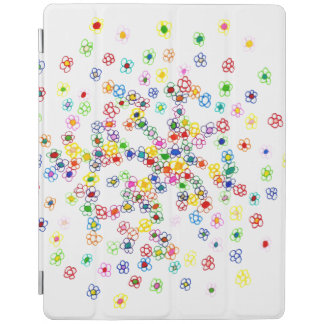 Capa Smart Para iPad Cobrir esperto colorido do iPad das flores