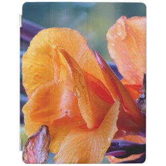 Capa Smart Para iPad Cobrir esperto de Ipad da flor alaranjada