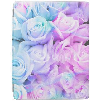 Capa Smart Para iPad Cobrir esperto do iPad 2/3/4 floral cor-de-rosa