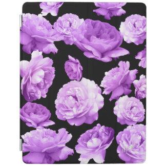 Capa Smart Para iPad Cobrir esperto do iPad 2/3/4 floral roxo do