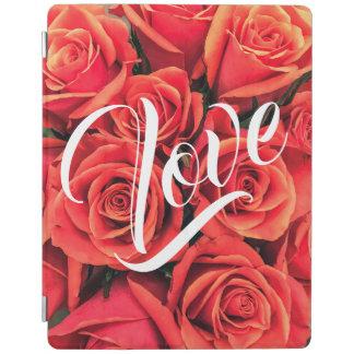 Capa Smart Para iPad Cobrir esperto do iPad do amor dos rosas