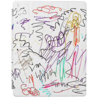 Capa Smart Para iPad Cobrir esperto do iPad dos Scribbles
