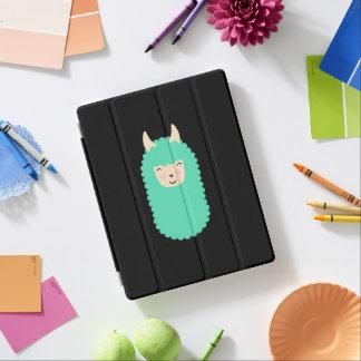 Capa Smart Para iPad Cobrir esperto do iPad feliz de Emoji do lama