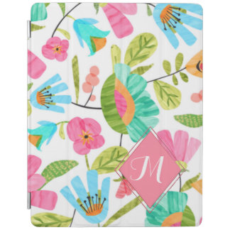 Capa Smart Para iPad Cobrir esperto do iPad floral na moda do monograma