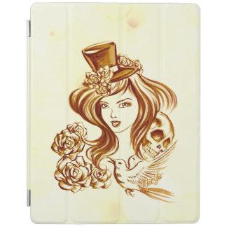 Capa Smart Para iPad Cobrir esperto do iPad pintado mão bonito da arte