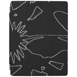 Capa Smart Para iPad Cobrir esperto do iPad preto e branco da flor