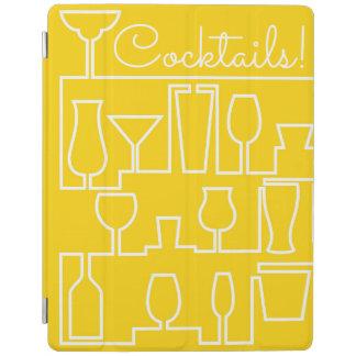 Capa Smart Para iPad Cocktail amarelo