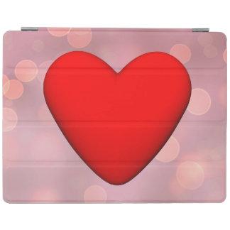 Capa Smart Para iPad Coração vermelho - 3D rendem