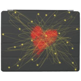 Capa Smart Para iPad Coração vermelho com design da arte abstracta das