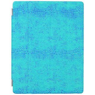 Capa Smart Para iPad Couro azul de néon do Vegan da escala da sereia