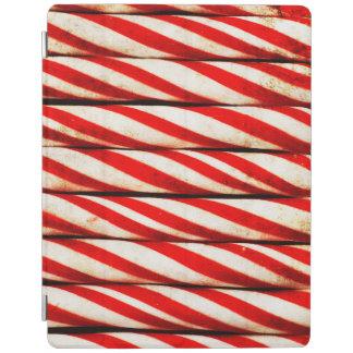 Capa Smart Para iPad Decoração vermelha listrada do White Christmas do